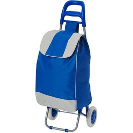 Blue and Grey Folding Shopping Cart with Bag thumb