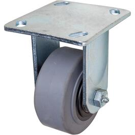 "4"" Thermoplastic Rubber Wheel Rigid Plate Caster thumb"