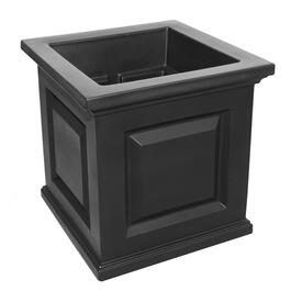 "16"" x 16"" Black Square Patio Planter thumb"