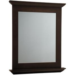 "30"" x 34"" Dark Roast Wall Hung Vanity Mirror thumb"