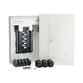100 Amp 16/32 Circuit Homeline Retrofit Panel Package with Breakers thumb