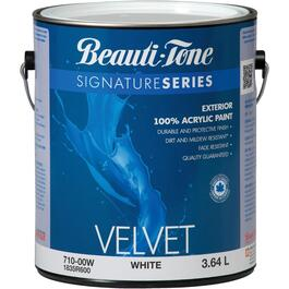 3.64L White Base Velvet Finish Exterior Latex Paint thumb