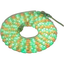 15' Red and Green LED Round Ropelight thumb