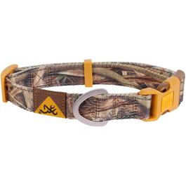 "14-20"" x 1"" Medium Brown Camouflage Polyester Web Classic Dog Collar thumb"