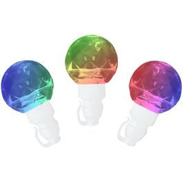 20 LED Red, Green, and Blue G40 Kaleidoscope Light Set thumb