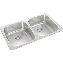 "31"" x 18"" x 7 1/8"" Stainless Steel Double Drop In Kitchen Sink thumb"