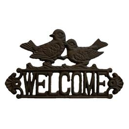 "12"" x 7"" Cast Iron Bird Design Welcome Sign thumb"