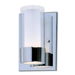 Martigny 1 Light Chrome Wall Light Fixture with Frosted and Clear Glass Shades thumb