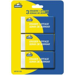 3 Pack Large White Erasers thumb
