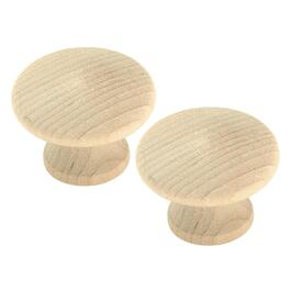 "2 Pack 1-1/4"" Birch Cabinet Knobs thumb"