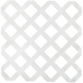 4' x 8' White Classic Ultra Light Vinyl Lattice thumb