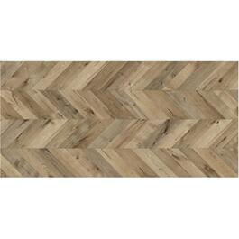 "29.06 sq. ft. 9.6"" x 54.5"" Tweed Chevron Laminate Plank Flooring thumb"