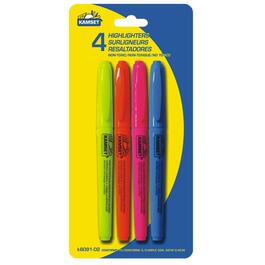 4 Pack Writing and Marking Highlighters thumb