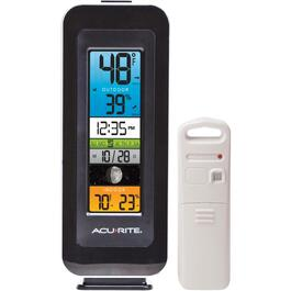 Indoor/Outdoor Wireless Thermometer, with Colour Display thumb