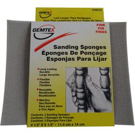 "3 Pack 4.5"" x 5.5"" Fine Flexible Sanding Pads thumb"