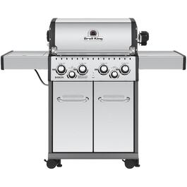 Baron 490 4 Burner + 1 Infa-Red Side Burner +1 Rear Rotisserie Burner 644 sq. in. 65,000BTU Stainless Steel Natural Gas Barbecue thumb