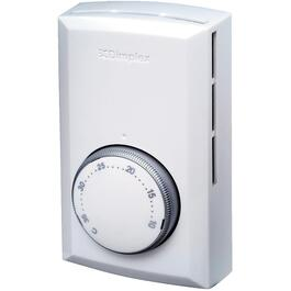 Single Pole White Electronic Wall Thermostat thumb