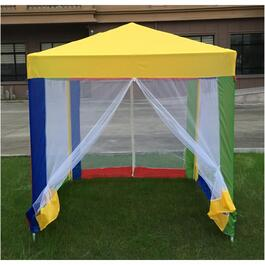5' x 5' Child's Multi Colour Gazebo, with Net thumb