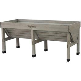 Grey Washed Classic Medium Raised Garden Planter thumb