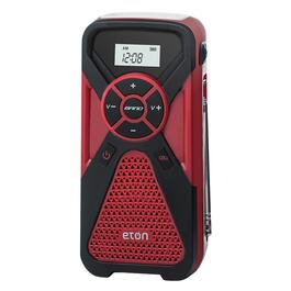 Portable AM-FM Weather Radio, with USB, Flashlight and Crank thumb