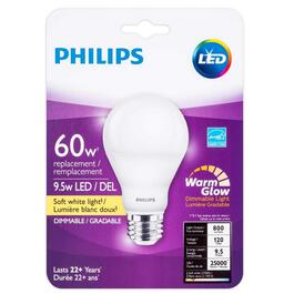 9.5W A19 Medium Base Soft White Warm Glow Dimmable LED Light Bulb thumb
