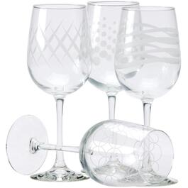 4 Pack 16oz Adorn Wine Stemware Set thumb