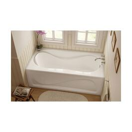 "60"" x 30"" White Cocoon Right Hand Soaker Bathtub with Skirt thumb"