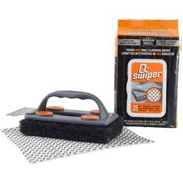 Q-Swiper Bristle-Less Grill Scrubber, with Wipes thumb