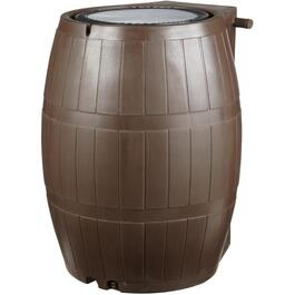 75Gal Brown Flat Back Rain Barrel thumb