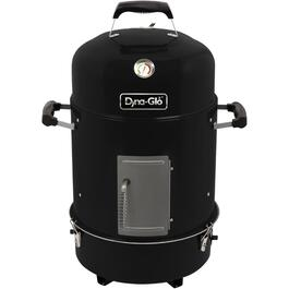 390 sq. in. Bullet High Gloss Black Charcoal Smoker thumb