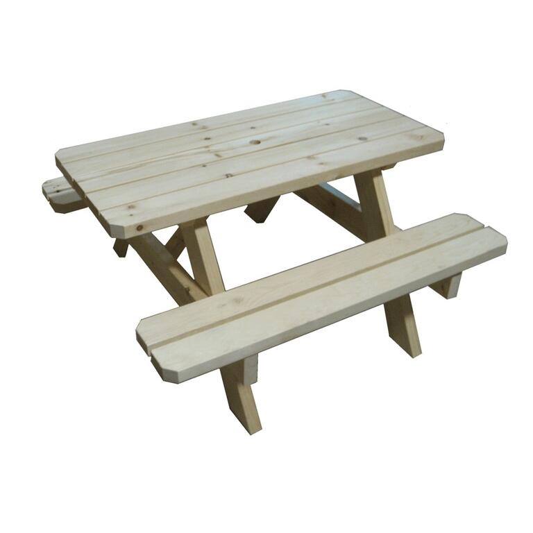 Unfinished Childrens Pine Picnic Table Home Hardware - Unfinished wood picnic table