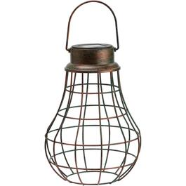 Hanging Solar Cage Pendant Light, with Edison Bulb thumb