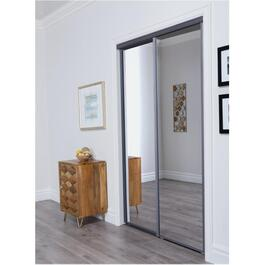 "60"" x 80"" Gun Metal Grey Aurora Mirror Sliding Door thumb"
