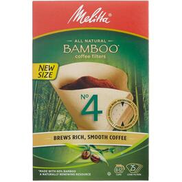 25 Pack Bamboo #4 Cone Coffee Maker Filters thumb