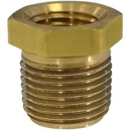 "1/2"" x 3/8"" Male-Female Pipe Thread Reducing Brass Bushing thumb"