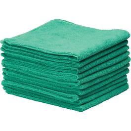 "10 Pack 14"" x 14"" Green Microfibre Cloths thumb"