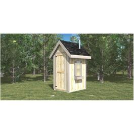4' X 5' Pit Toilet Outhouse thumb