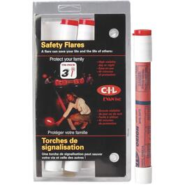 3 Pack SOS Highway Flares, with stand thumb