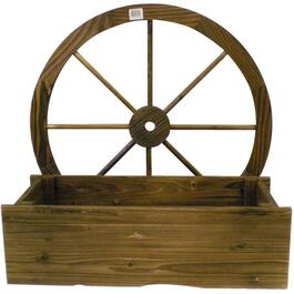 "23"" x 10"" Wagon Wheel Wood Planter thumb"