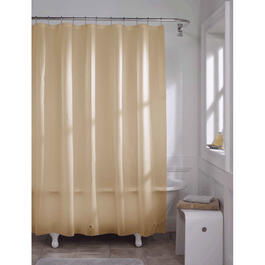 "70""' x 72"" Beige Peva Shower Curtain/Liner thumb"