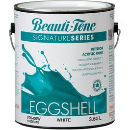 3.64L White Base Eggshell Finish Interior Latex Paint thumb