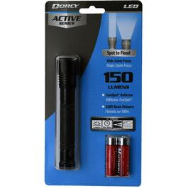 LED 150 Lumens Flashlight, with 2 AA Batteries thumb