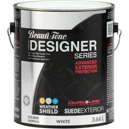 3.64L Suede Finish White Exterior Latex Paint thumb