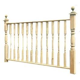 "36""H x 6'W Cedar Spindle Railing Package thumb"