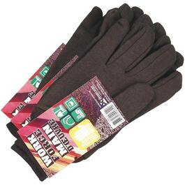 3 Pairs Men's One Size Brown Jersey Knit Work Gloves thumb