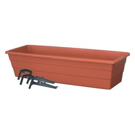 "18"" x 6"" Terra Cotta Balcony Planter thumb"