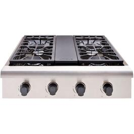 "30"" Stainless Steel On/Off-Grid Gas Cooktop thumb"