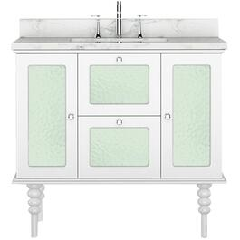 "36"" x 21.5"" Elyse White 2 Door 2 Drawer Vanity thumb"