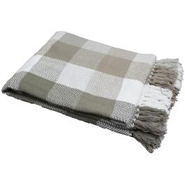 "50"" x 60"" Stone Herringbone Check Accent Throw thumb"