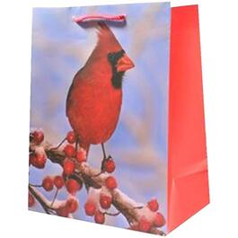 "10"" x 13"" Cardinal Christmas Gift Bag, Assorted Designs thumb"